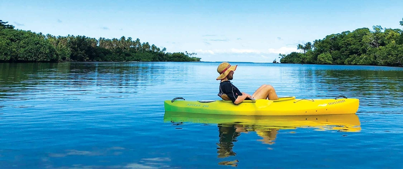 Vanuatu Ecotours Banner kayak
